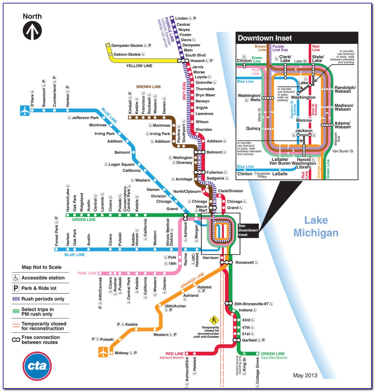 Map Of Chicago Transit Brown Line
