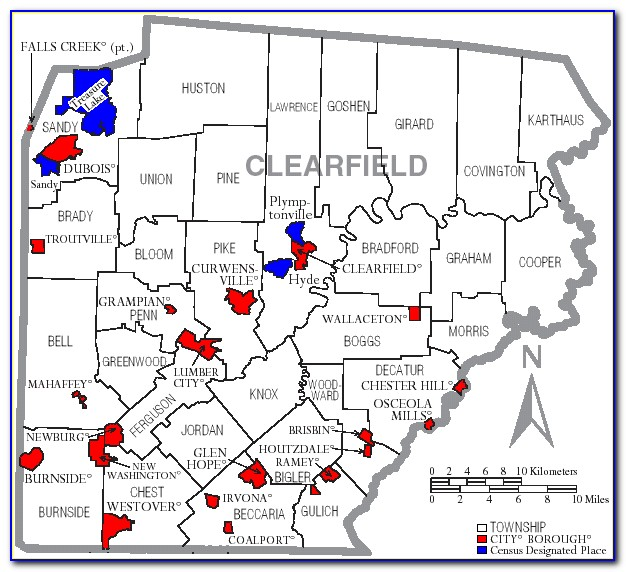 Map Of Clearfield County Pa