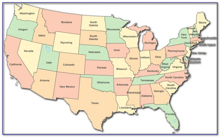 Map Of Contiguous United States