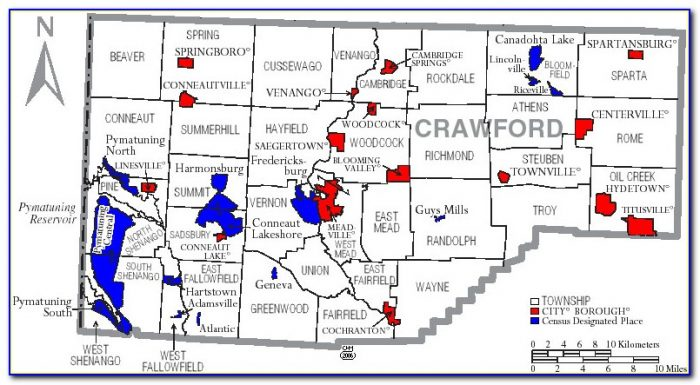 Map Of Crawford County Pa