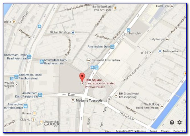 Map Of Dam Square Hotels