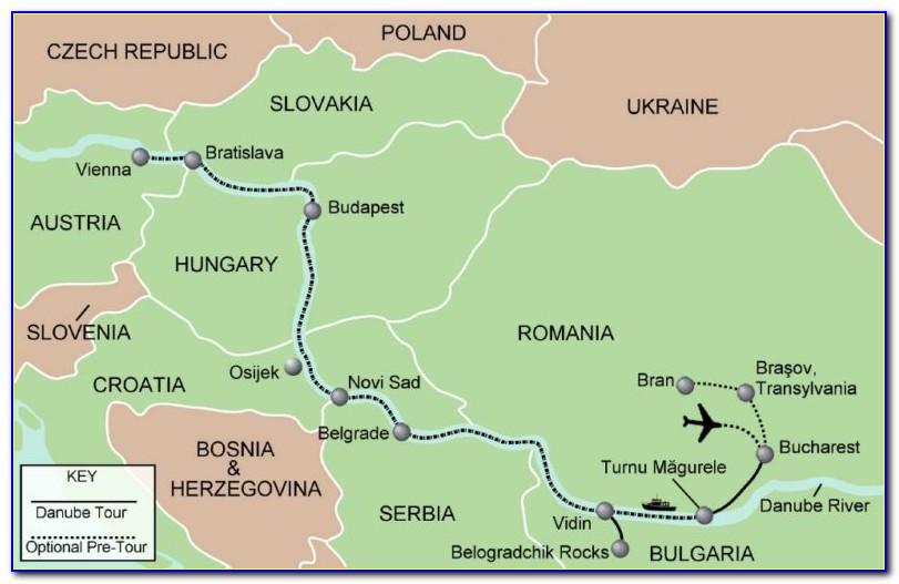 Map Of Danube River Cruise