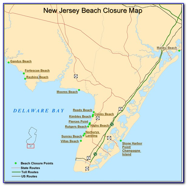 Map Of Delaware Bay Area