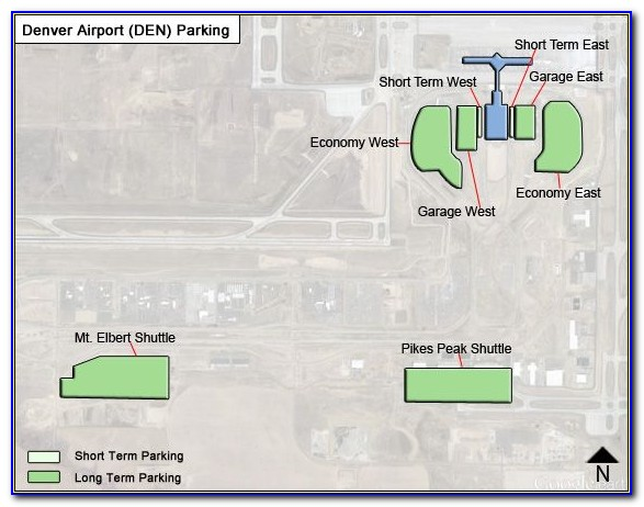Map Of Denver Airport Parking