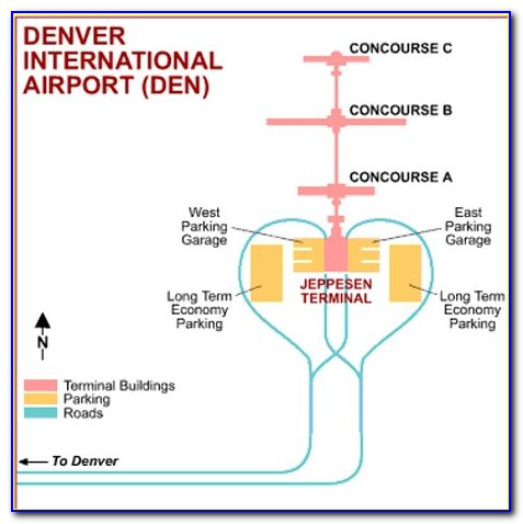 Map Of Denver International Airport Parking