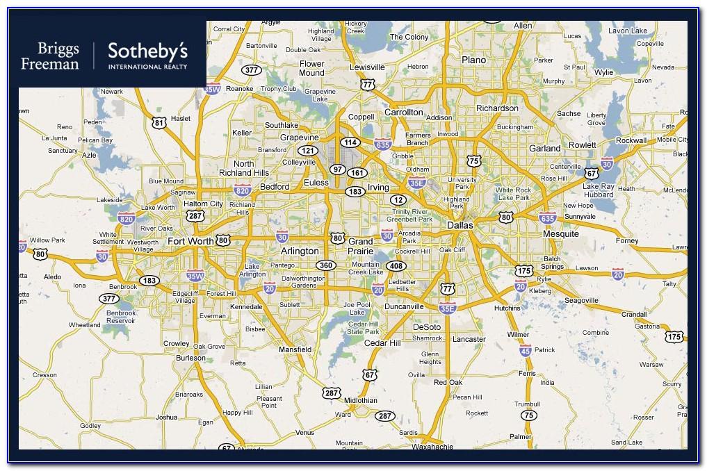 Map Of Dfw Metroplex Area