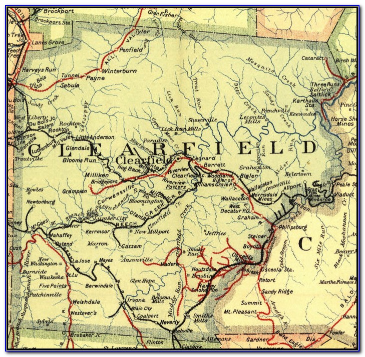 Map Of Downtown Clearfield Pa