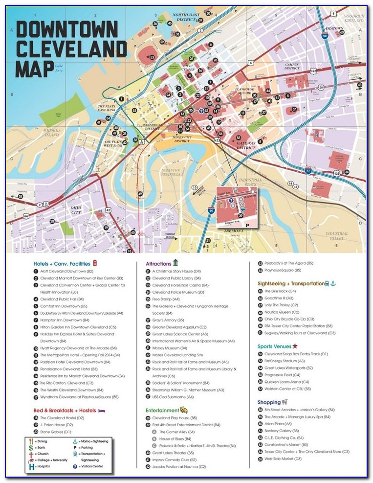 Map Of Downtown Cleveland Hotels