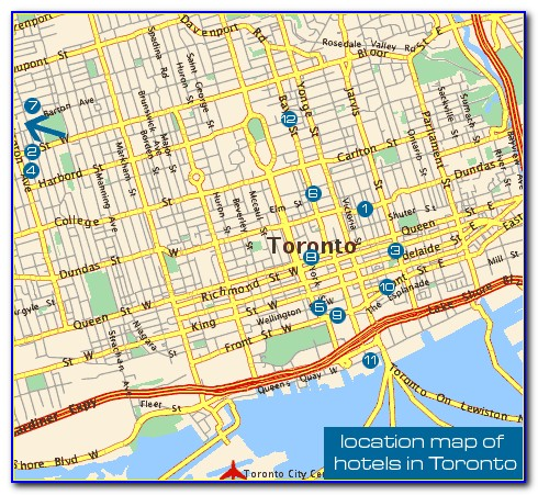 Map Of Downtown Toronto Hotels And Attractions