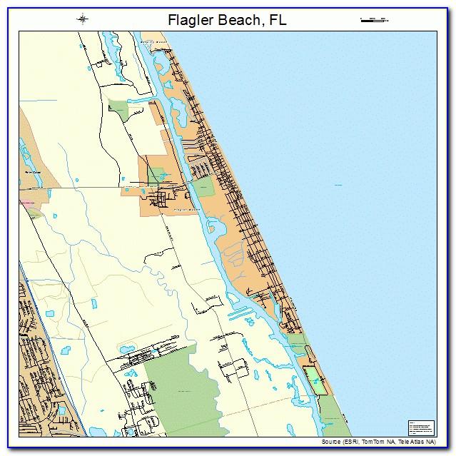 Map Of Flagler Beach Florida