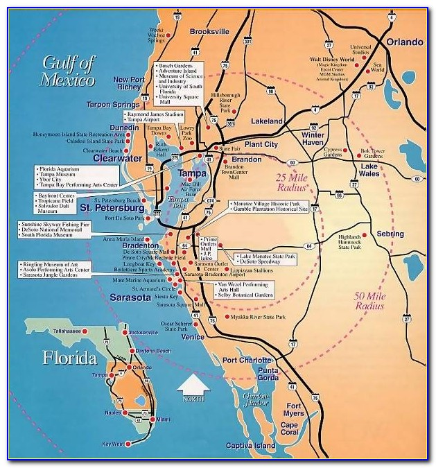 Map Of Florida Gulf Coast Cities - Uncategorized : Resume ...