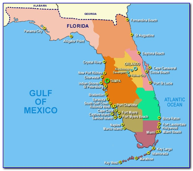 Map Of Florida Gulf Coast Counties