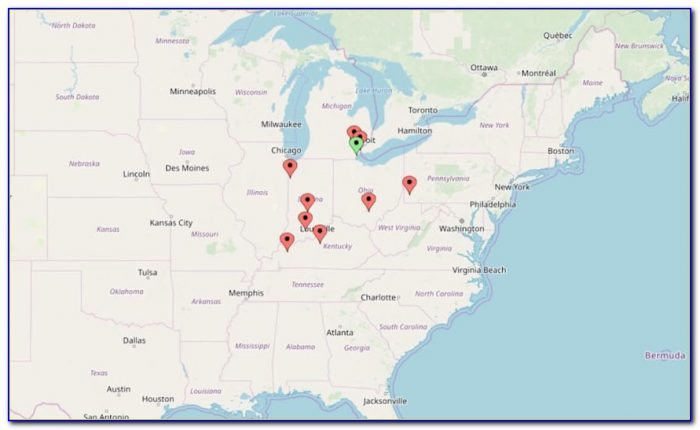 Map Of Ford Dealerships