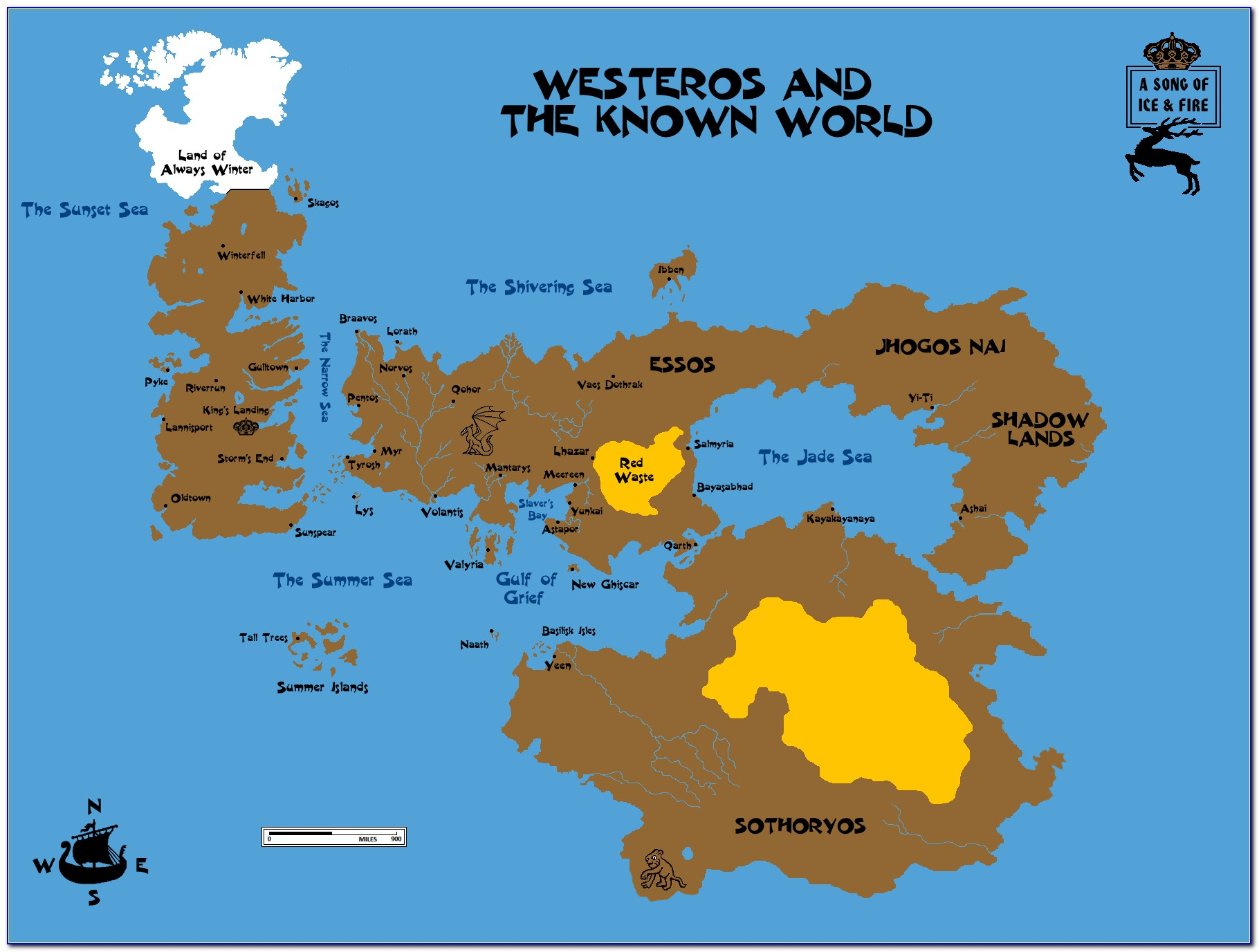 Map Of Game Of Thrones World Hd