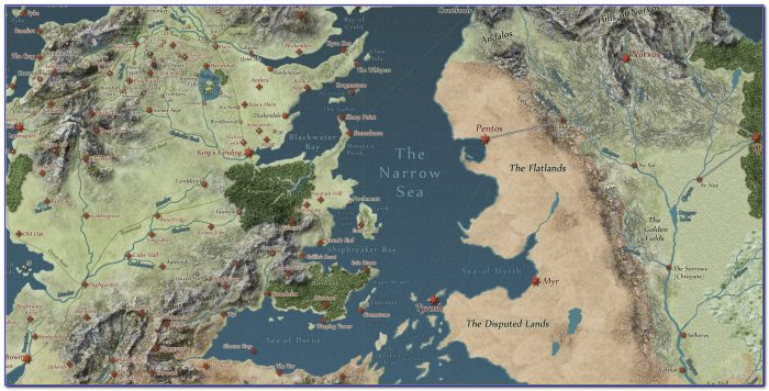 Map Of Game Of Thrones World Pdf