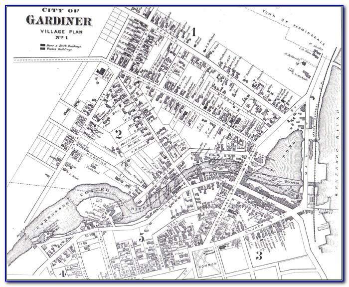 Map Of Gardiner Maine