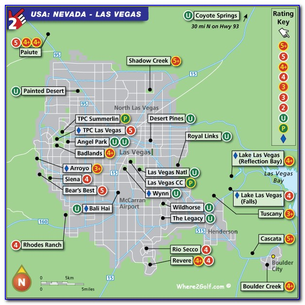 Map Of Golf Courses In Las Vegas