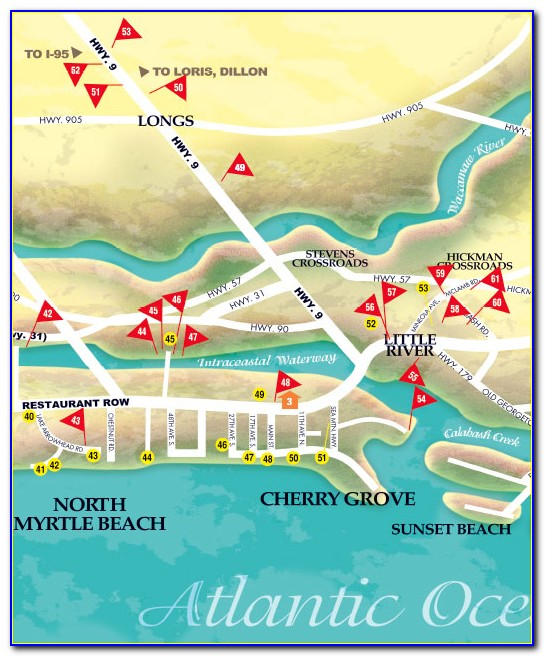 Map Of Golf Courses In Myrtle Beach