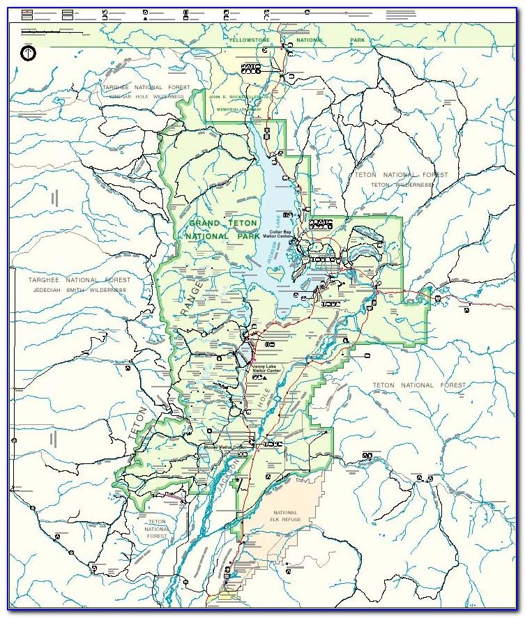 Map Of Grand Tetons And Jackson Hole