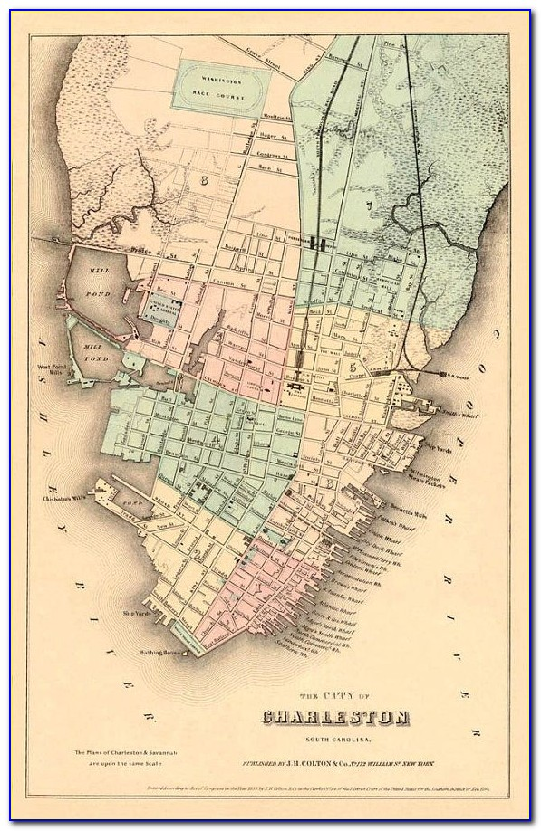 Map Of Historic Charleston Sc Hotels