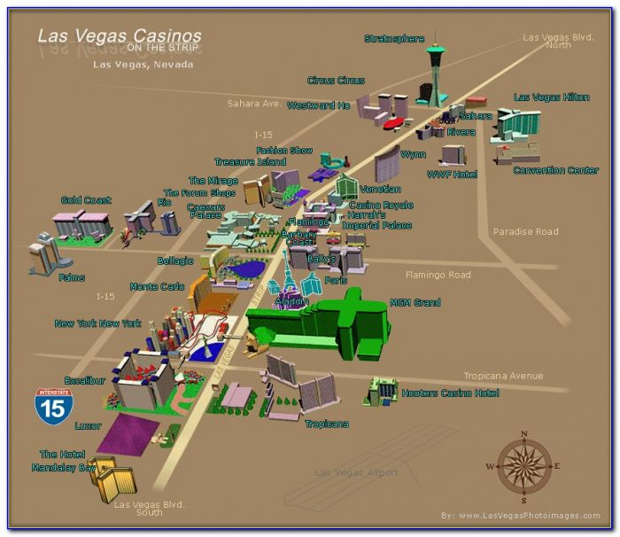 Map Of Hotel In Vegas Strip