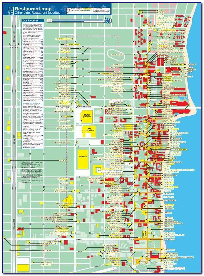 Map Of Hotel Locations In Playa Del Carmen