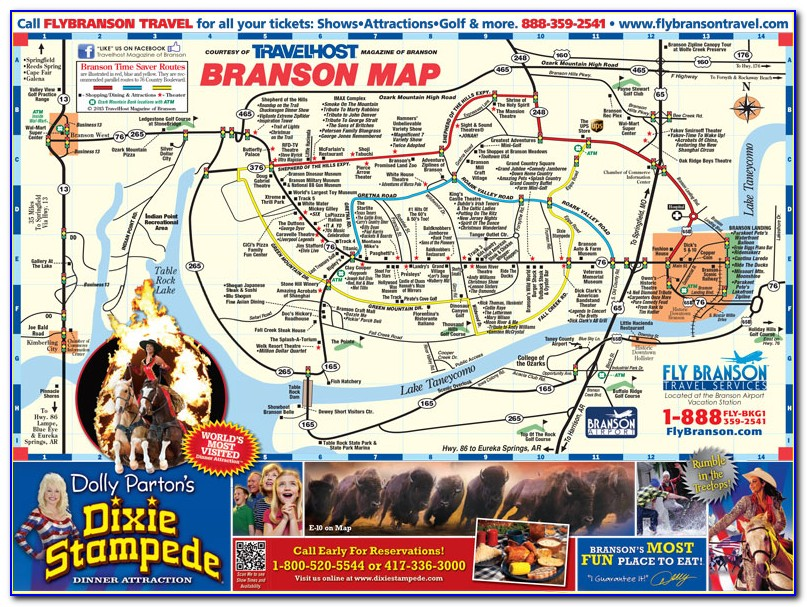 Map Of Hotels And Motels In Branson Mo