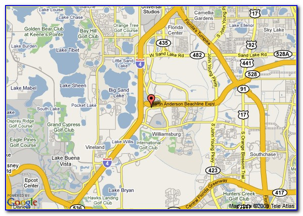 Map Of Hotels Around Orlando Convention Center