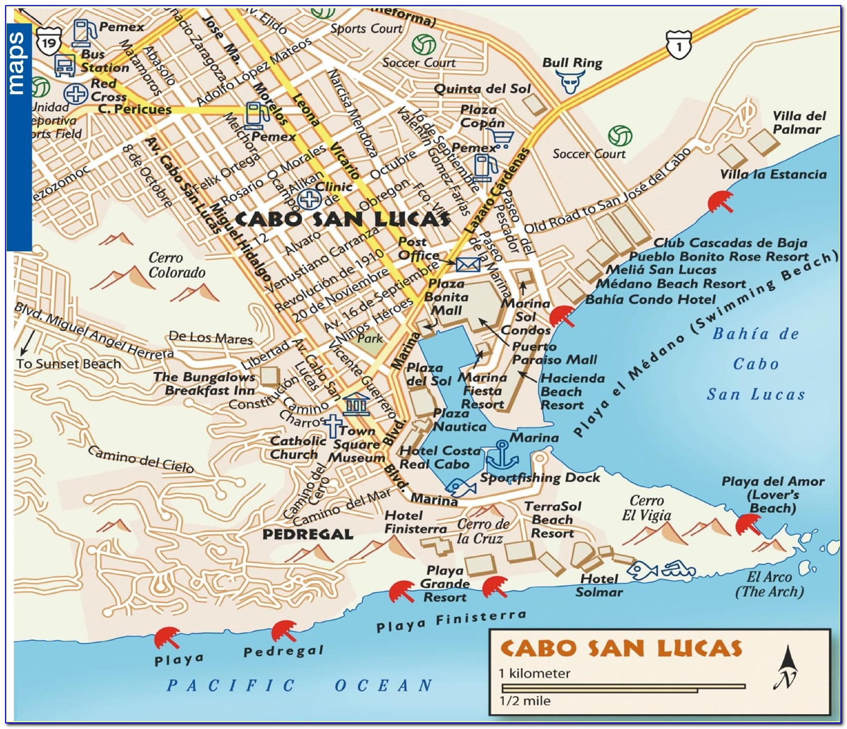 Map Of Hotels In Cabo San Lucas Mexico - Maps : Resume ...