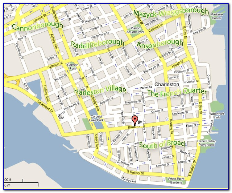 Map Of Hotels In Downtown Charleston Sc