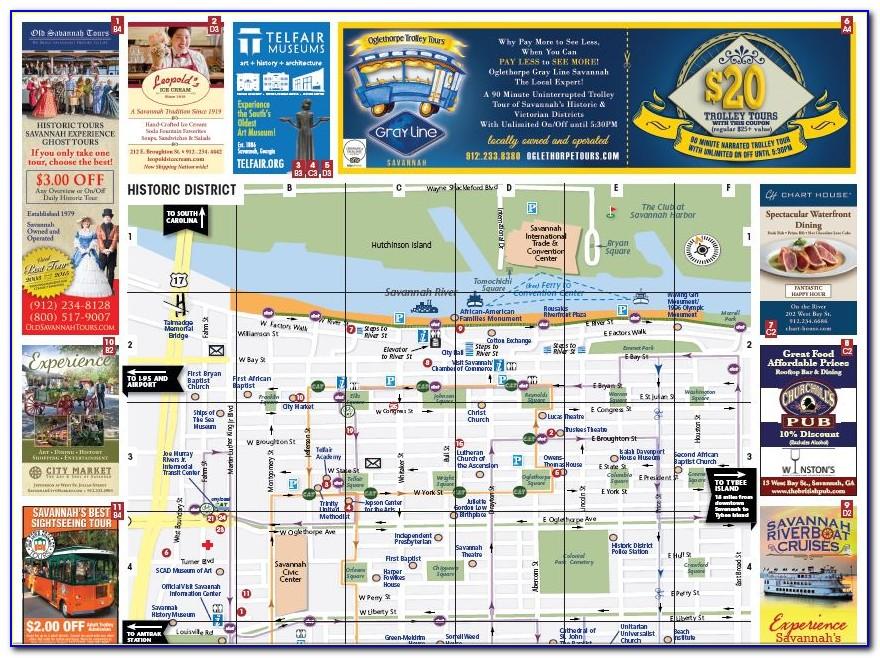 Map Of Hotels In Downtown Savannah Ga
