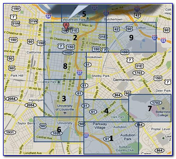 Map Of Hotels In Louisville Kentucky