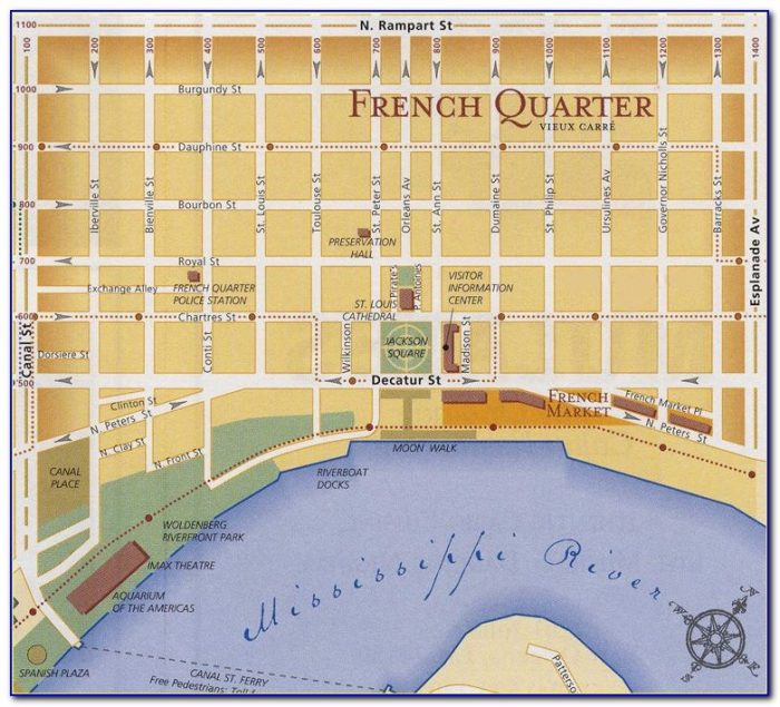 Map Of Hotels In New Orleans Near French Quarter