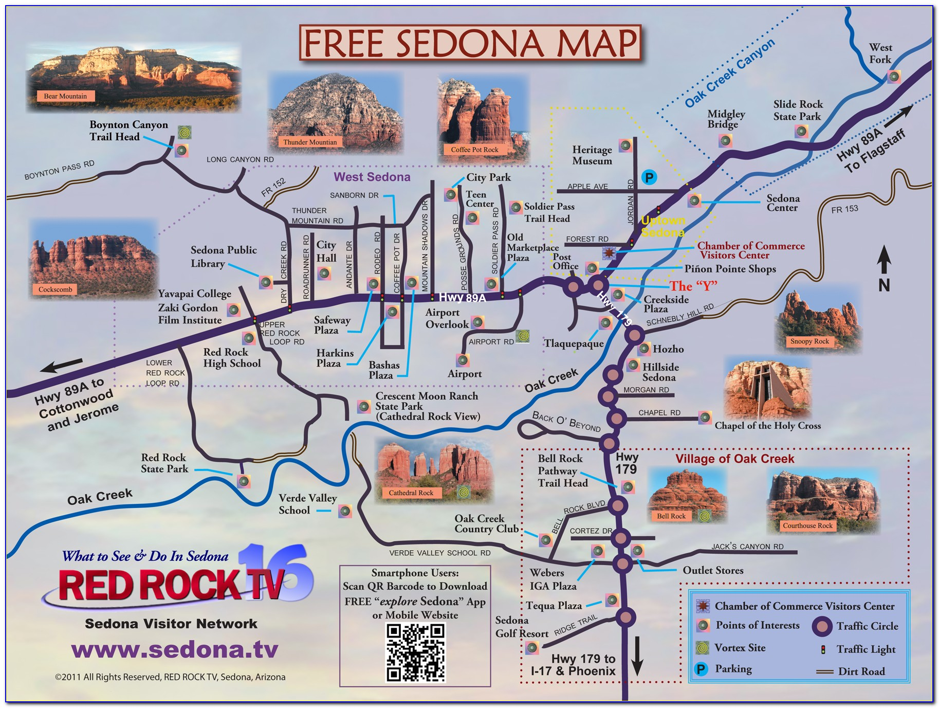 Map Of Hotels In Uptown Sedona Az
