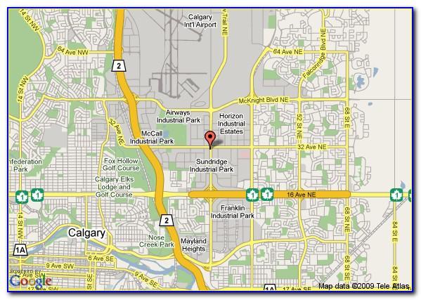 Map Of Hotels Near Calgary Airport