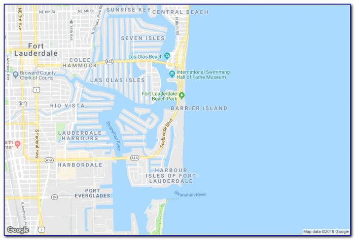 Map Of Hotels Near Fort Lauderdale Cruise Port