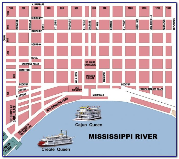 Map Of Hotels Near French Quarter
