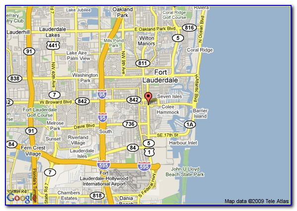 Map Of Hotels Near Ft Lauderdale Cruise Port
