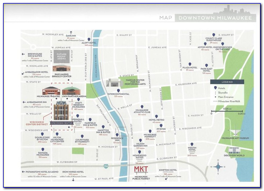 Map Of Hotels Near Milwaukee Airport