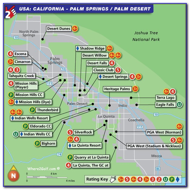Map Of Hotels Near Palm Springs Convention Center