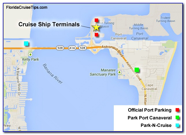 Map Of Hotels Near Port Canaveral