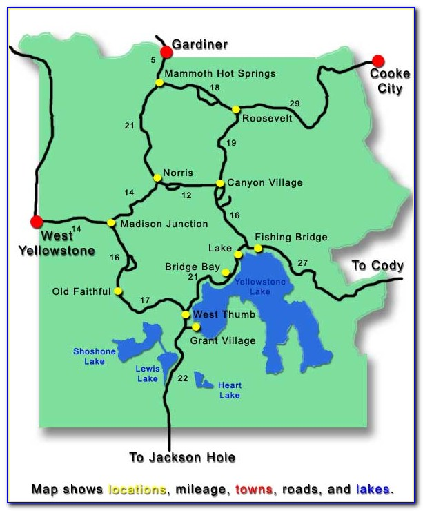 Map Of Hotels Near Yellowstone