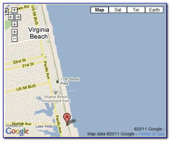 Map Of Hotels On Atlantic Avenue Virginia Beach