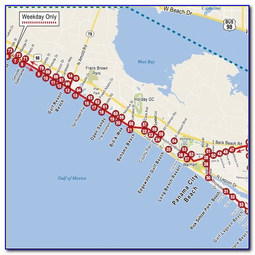 Map Of Hotels On Front Beach Road In Panama City