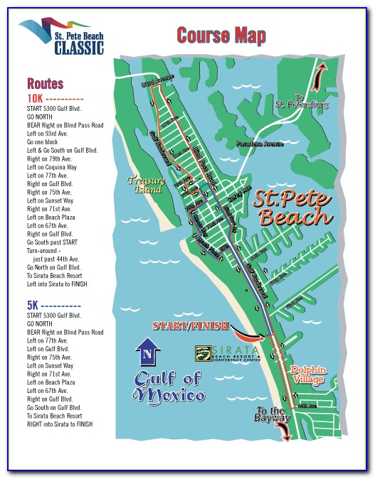 Map Of Hotels On St Pete Beach Florida