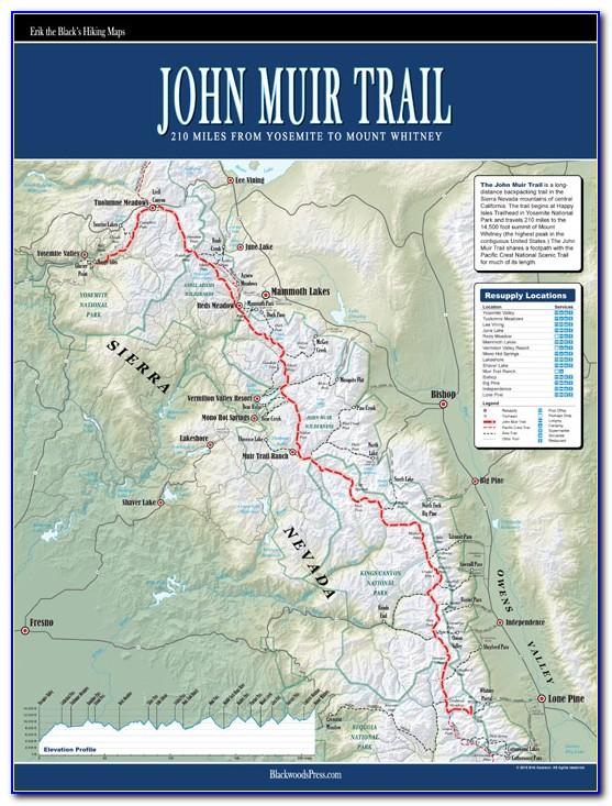Map Of John Muir Trail California