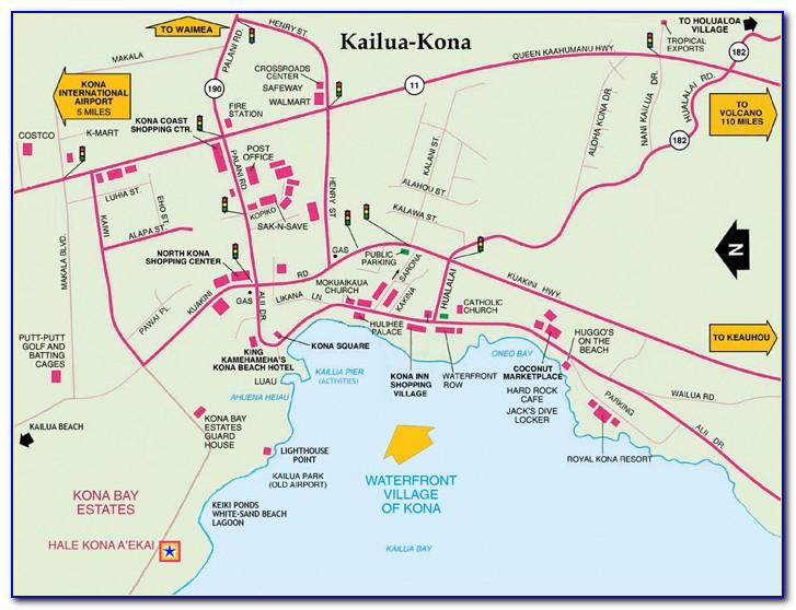 Map Of Kona Coast Hotels
