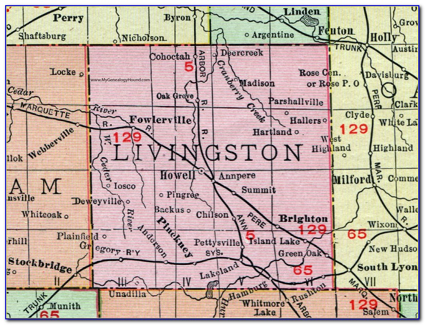 Map Of Livingston County Ky