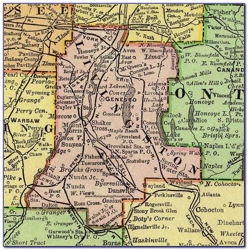 Map Of Livingston County Mi