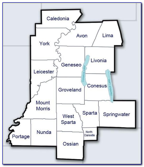 Map Of Livingston County Ny
